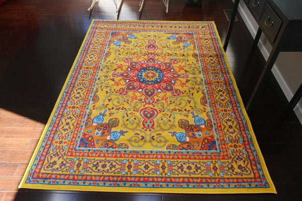4023 Yellow - Bargain Area Rugs  - 1