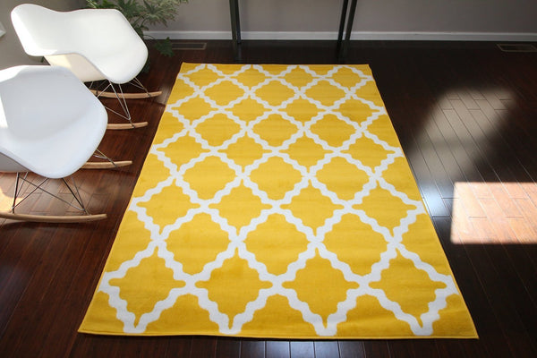 8041 Yellow - Bargain Area Rugs  - 1
