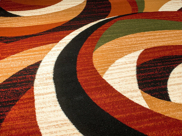 2045 Multi Color Abstract Contemporary Area Rugs