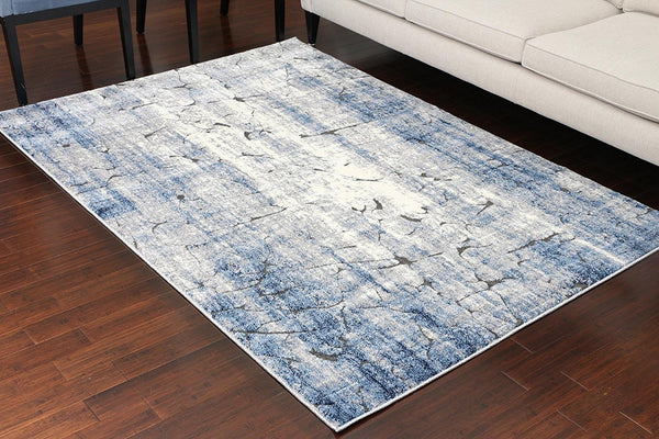 5609 Blue Carved Contemporary Area Rugs