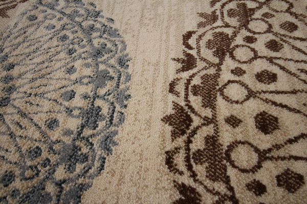 Beige Medallion Transitional Area Rugs