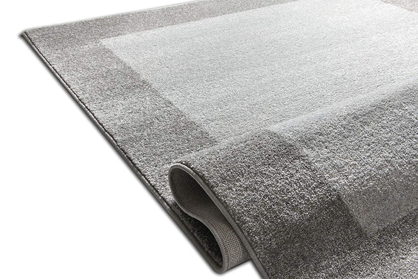 7035 Gray Solid Color Contemporary Area Rugs
