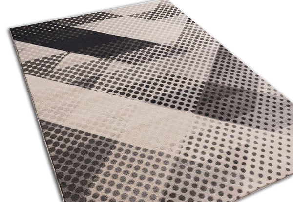 2944 Gray Geometric Modern Contemporary Area Rugs