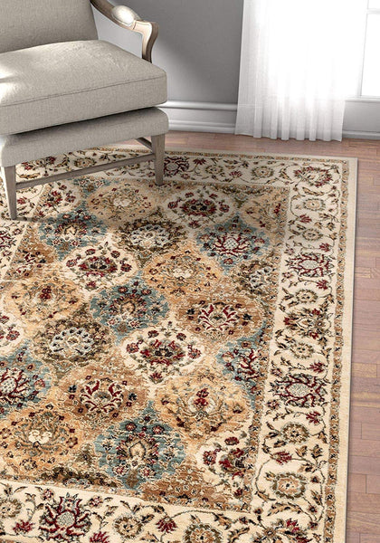 2950 Ivory Panel Persian Oriental Area Rugs