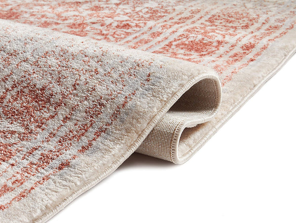 2916 Cooper Red Distressed Vintage Plush Persian Area Rugs