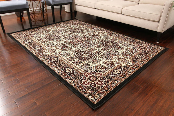 0551 Black Oriental Area Rugs