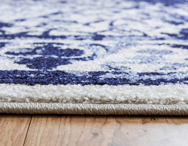 5114 Blue Distressed Oriental Area Rugs