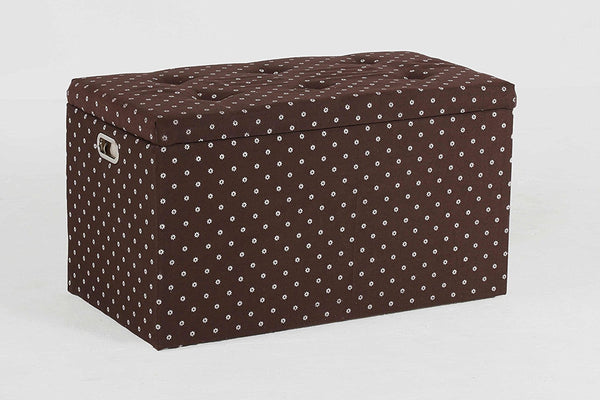 New Century® 5 Pieces Cloth Storage Ottoman With Stools, Brown