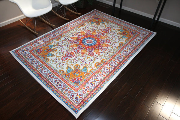 4023 White - Bargain Area Rugs  - 4