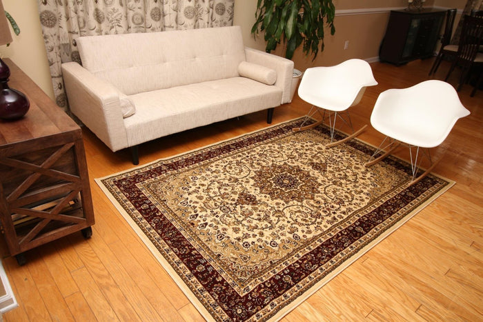 2118 Ivory Isfahan Oriental Area Rugs