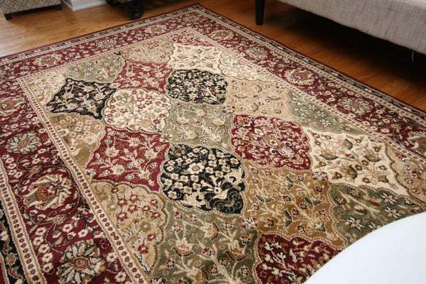 1019 Red - Bargain Area Rugs  - 3