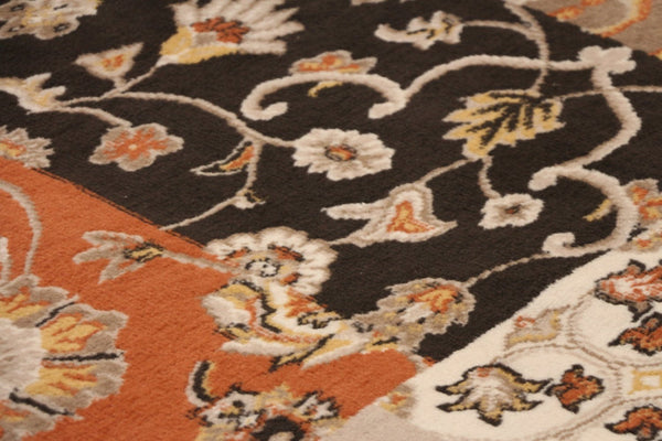 Orange Panals Floral Rug 5x8 8x11 | Bargain Area Rugs