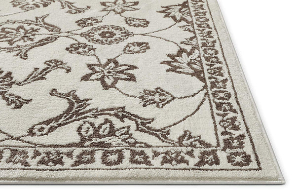 3959 Beige Floral Traditional Area Rugs