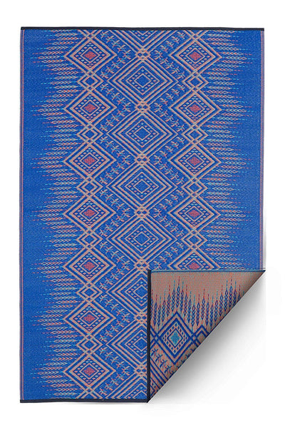 7123 Blue Reversible Outdoor/Indoor Area Rugs