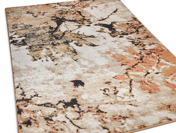 2950 Orange Multi Abstract Contemporary Area Rugs