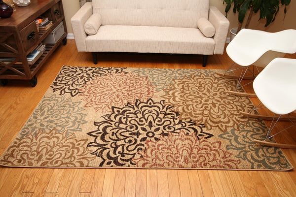2044 Beige - Bargain Area Rugs  - 2