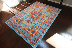 4023 Light Blue - Bargain Area Rugs  - 2