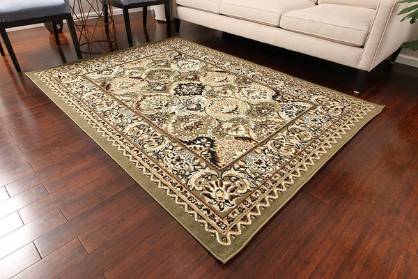 0554 Green Oriental Area Rugs