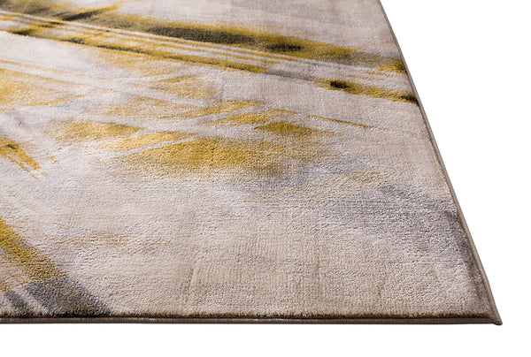 2945 Gold Abstract Modern Contemporary Area Rugs