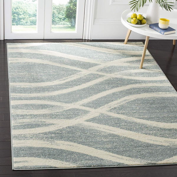 0107 Blue Slate Modern Contemporary Area Rugs