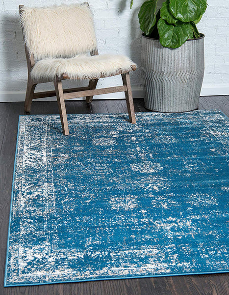 5101 Blue Distressed Vintage Oriental Area Rugs