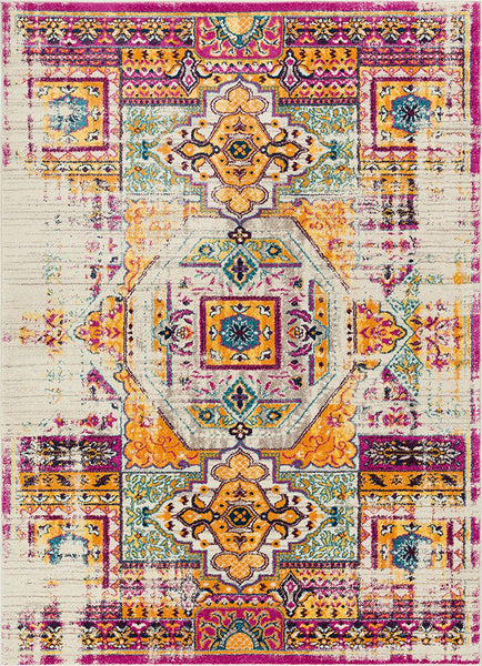 2922 Purple Distressed Vintage Traditional Area Rugs