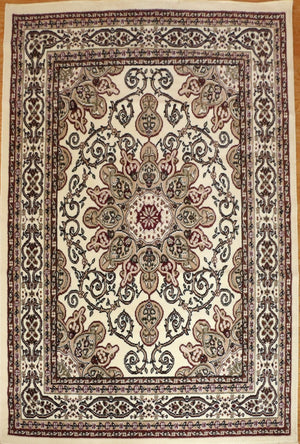 Persian Rugs Ivory Isfahan Oriental Rugs | Bargain Area Rugs