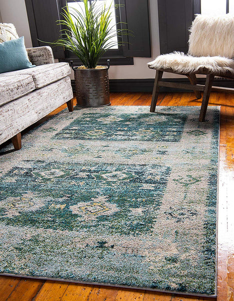 5149 Green Bohemian Distressed Oriental Area Rugs
