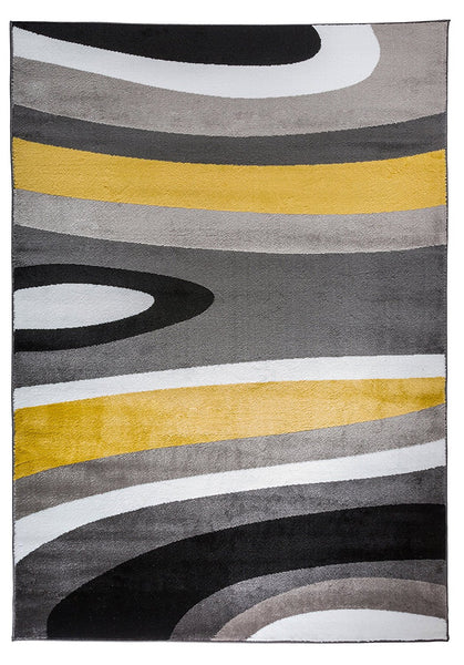 3806 Yellow Gray Contemporary Area Rugs