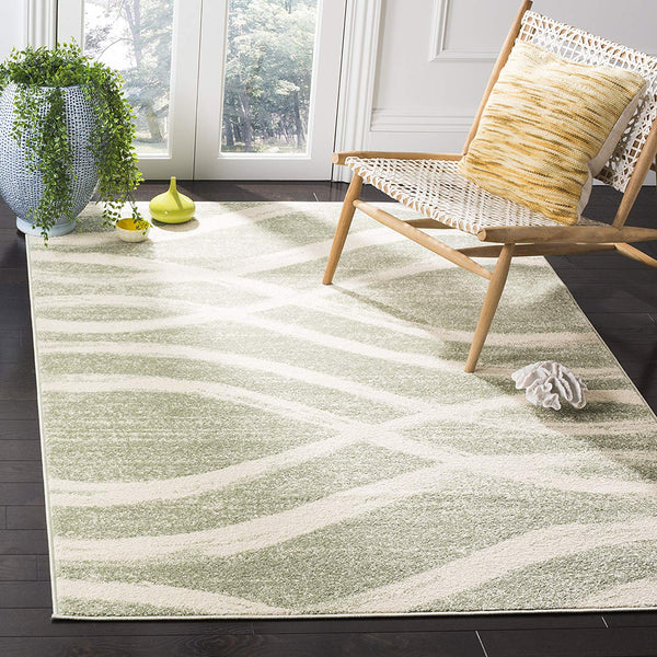 0107 Sage Green Modern Contemporary Area Rugs