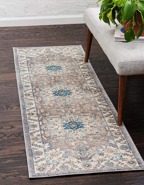 5117 Gray Blue Oriental Area Rugs