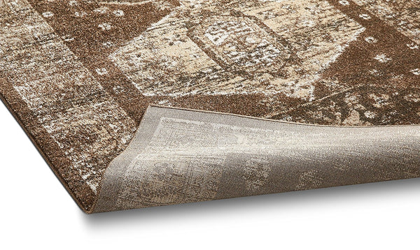 2927 Brown Vintage Distressed Persian Area Rugs