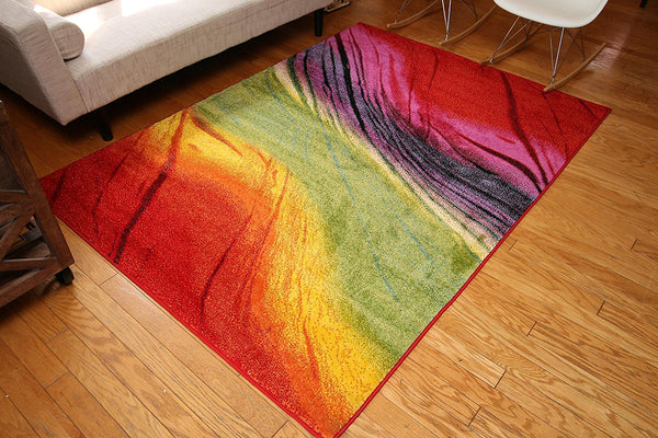 7003 Multi-Color Colorful Contemporary Area Rugs