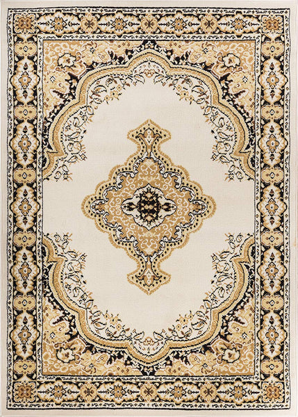 5084 Ivory Medallion Traditional Area Rugs