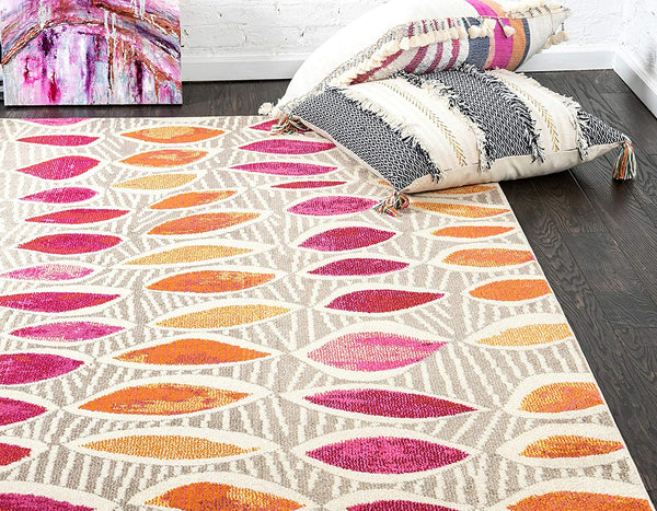 9983 Brown Abstract Contemporary Area Rugs