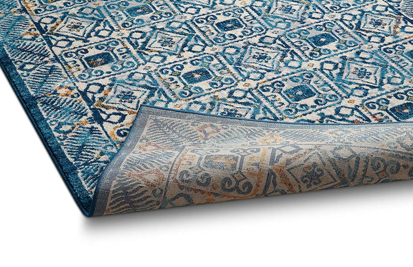 2944 Blue Distressed Bohemian Oriental Area Rugs