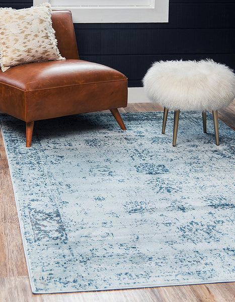 5101 Light Blue Distressed Vintage Oriental Area Rugs