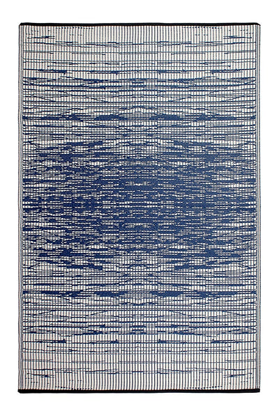 7105 Blue Modern 100% Recycled Outdoor Area Rugs