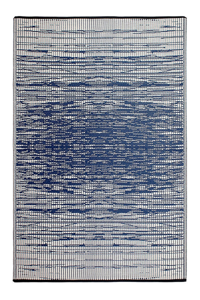 7115 Blue Reversible Outdoor/Indoor Area Rugs