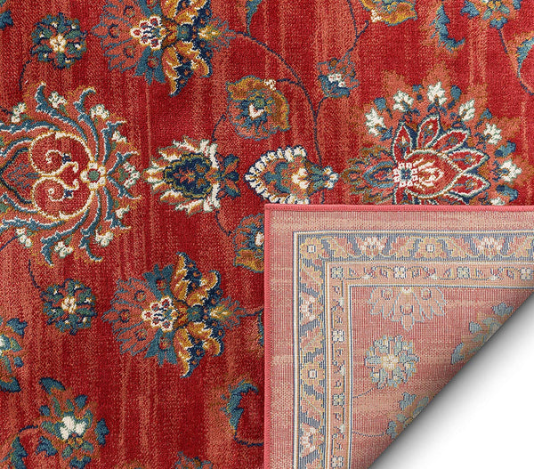 2938 Red Floral Persian Medallion Area Rugs