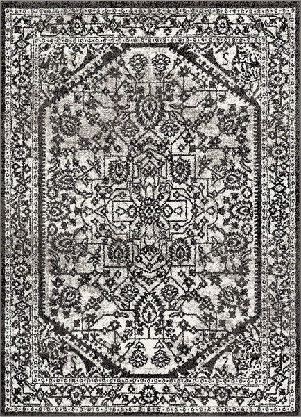 3957 Gray Medallion Vintage Oriental Area Rugs