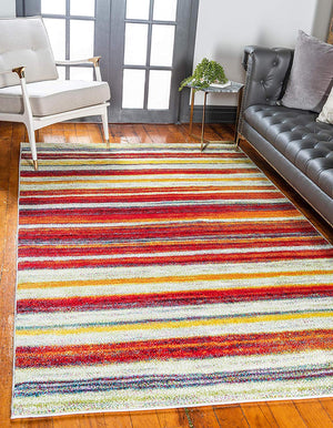 9933 Multi-Color Abstract Modern Contemporary Area Rugs