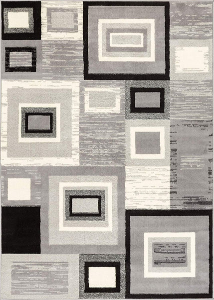 5080 Gray Square Contemporary Area Rugs