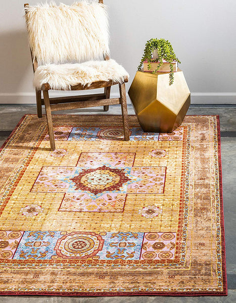 5159 Ivory Tribal Oriental Area Rugs