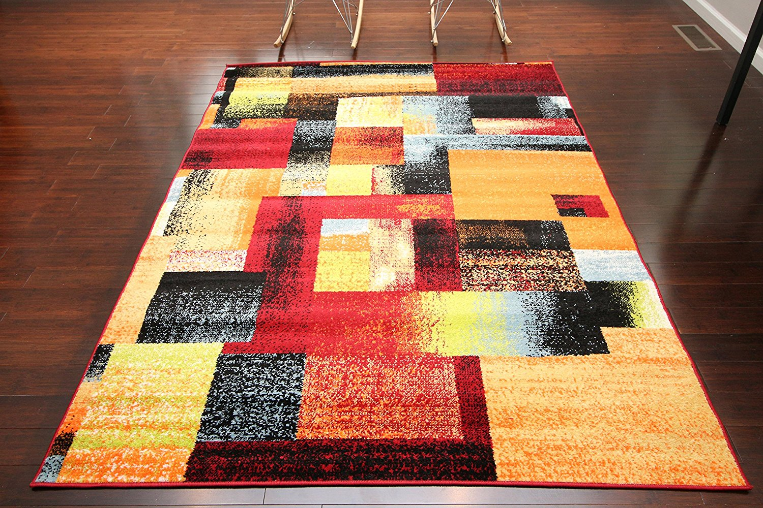 Red colorful contemporary discount area rugs 5x8 8x11 for Cheap contemporary area rugs