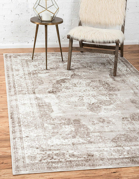 5102 Beige Distressed Vintage Oriental Area Rugs