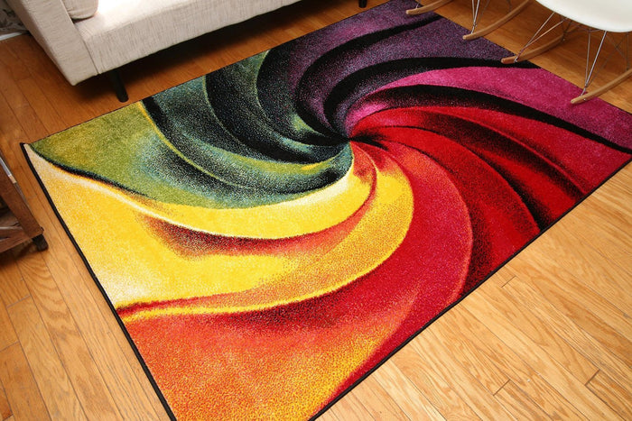 7006 Multi-Color Colorful Contemporary Area Rugs
