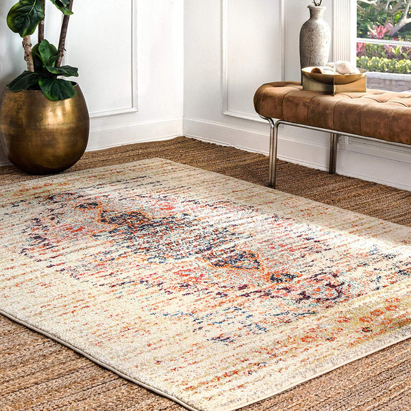 9337 Beige Distressed Oriental Area Rugs