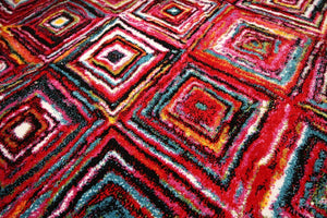 Radiance Red Abstract Colorful Contemporary Rugs