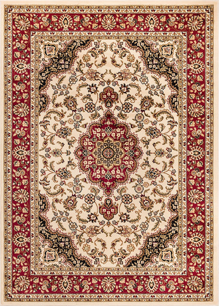2917 Ivory Medallion Persian Area Rugs